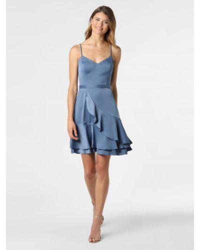 Niebieska sukienka elegancka V.m.