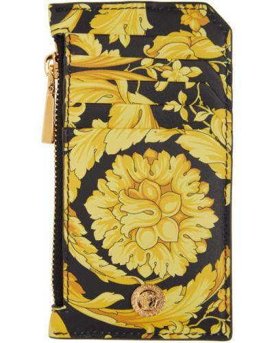 Черная ключница с подкладкой из натуральной кожи со шлицей Versace