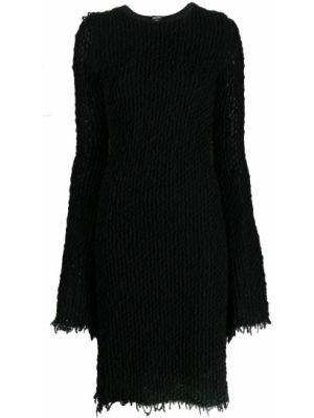 Черное платье винтажное с вырезом круглое Jean Paul Gaultier Pre-owned