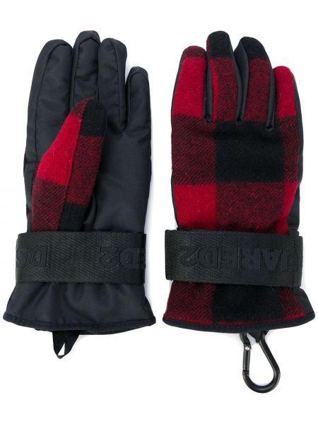 Czarne rękawiczki wełniane Dsquared2