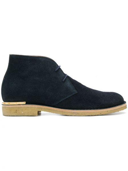 Сапоги со шнуровкой замшевые Marc Jacobs