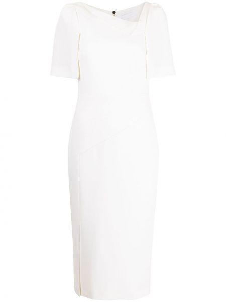 Biała sukienka wełniana Roland Mouret