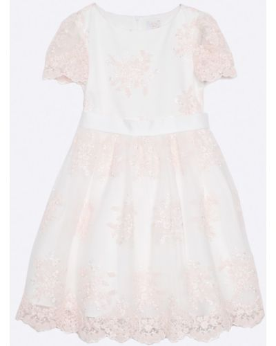 Платье однотонное белое Sly