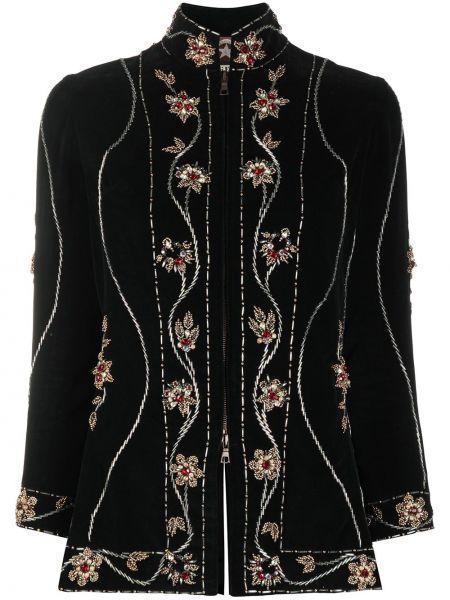 Бархатный черный пиджак с воротником A.n.g.e.l.o. Vintage Cult