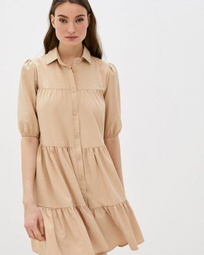 Бежевое платье-рубашка Trendyangel