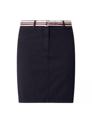 Niebieska spódnica z paskiem bawełniana Tommy Hilfiger