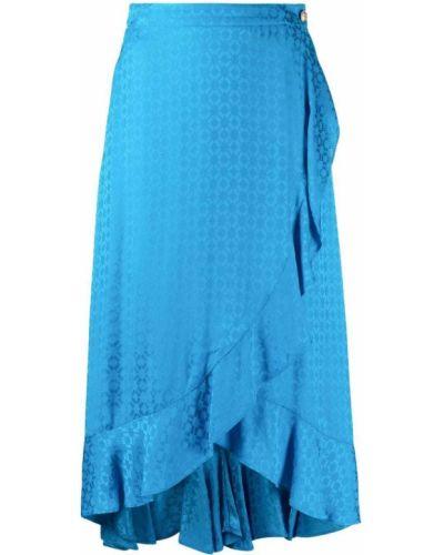 Niebieska spódnica z wysokim stanem z wiskozy Pinko