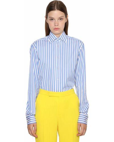 Рубашка в полоску - белая Ralph Lauren Collection