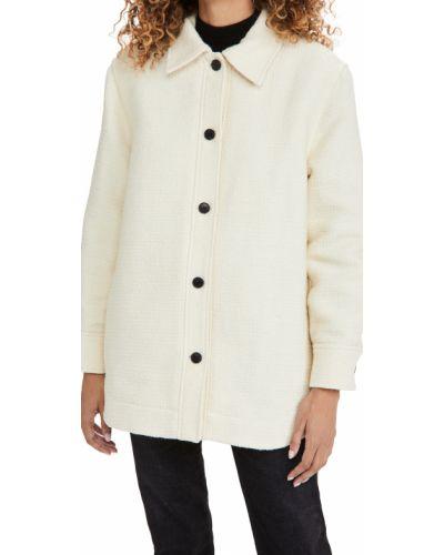 Клубная стеганая белая куртка Club Monaco