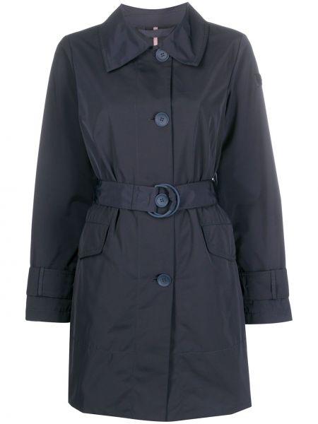 Однобортное пальто классическое с поясом с воротником на пуговицах Peuterey