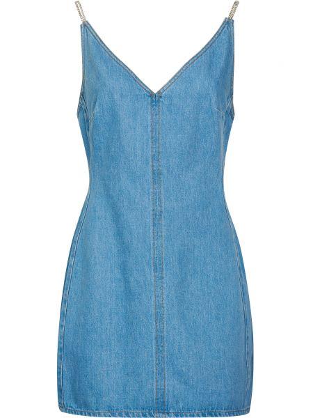 Хлопковое платье - голубое David Koma