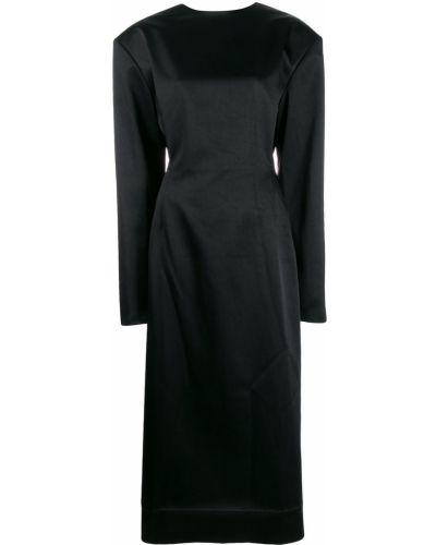Приталенное платье макси с открытой спиной Litkovskaya
