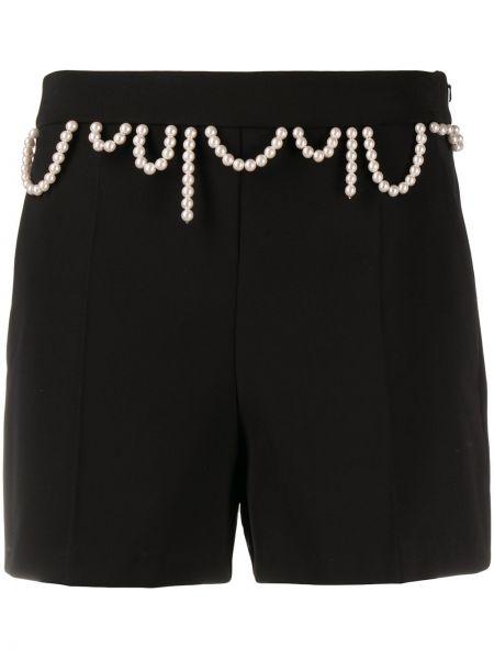 Черные с завышенной талией шорты на молнии Boutique Moschino