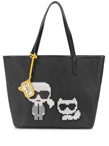 Кожаная сумка сумка-тоут с ручками Karl Lagerfeld