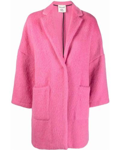 Розовое пальто из альпаки Semicouture