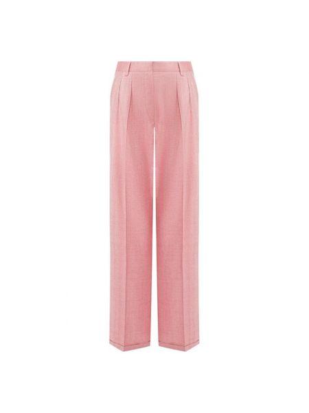 Шелковые розовые брюки Kiton
