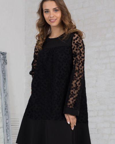 Платье с поясом в горошек сетчатое азалия