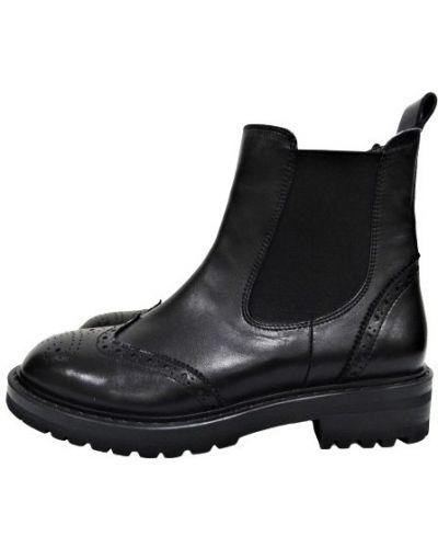 Кожаные ботинки челси - черные Tucino
