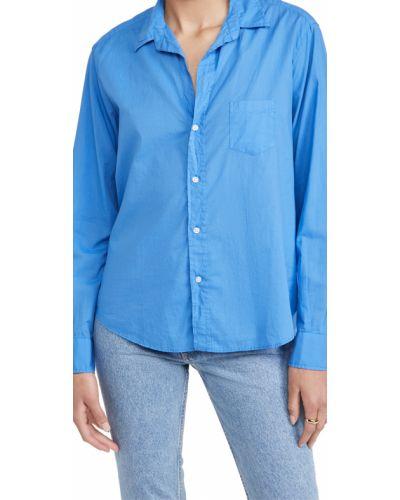 Хлопковая синяя рубашка с длинными рукавами Frank & Eileen
