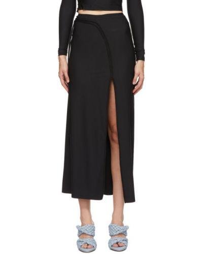 Черная юбка макси стрейч Ottolinger