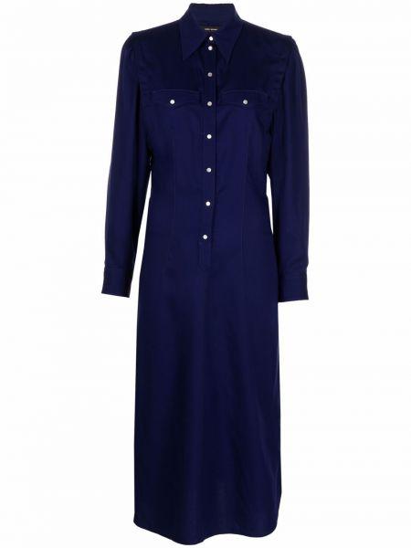 Платье миди с длинными рукавами - синее Isabel Marant