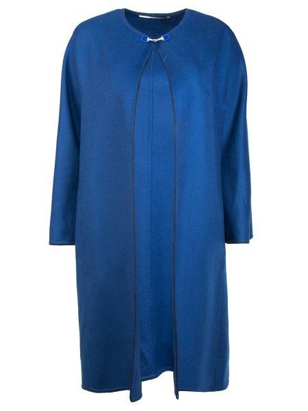 Кашемировое пальто - синее Colombo