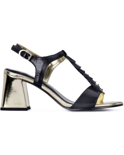 Czarne sandały na obcasie Apepazza