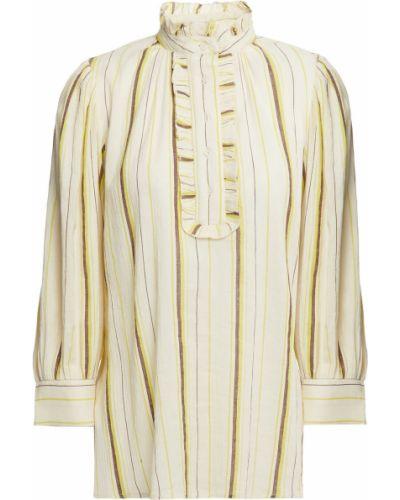 Ватная хлопковая блузка в полоску Antik Batik