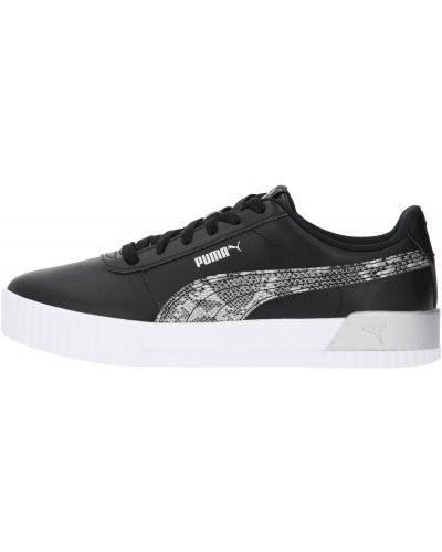 Кожаные черные кеды на шнуровке Puma