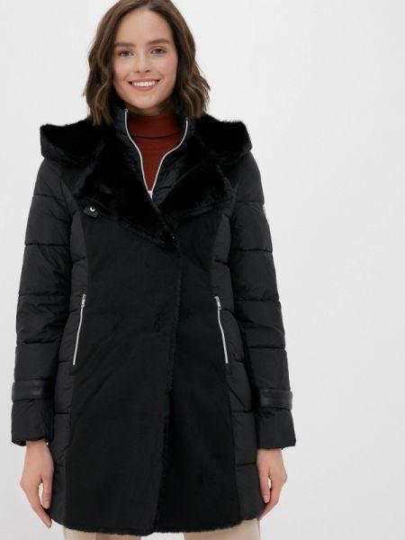 Теплая черная утепленная куртка Gerry Weber