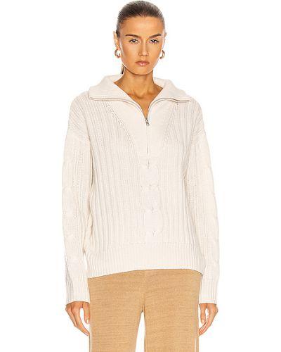 Кашемировый белый свитер милитари Nili Lotan