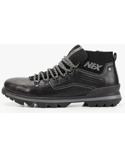 Черные кожаные ботинки Nexpero