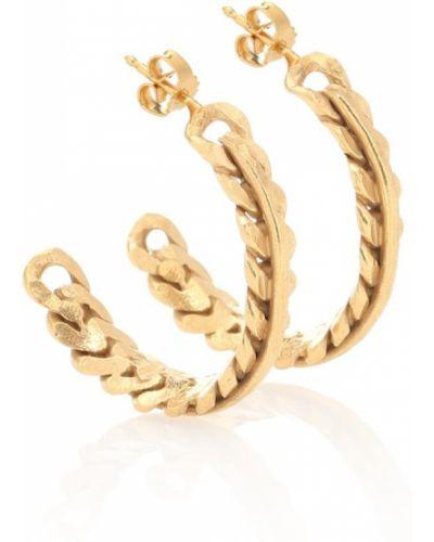 Серьги-гвоздики серьги-кольца золотые Elhanati