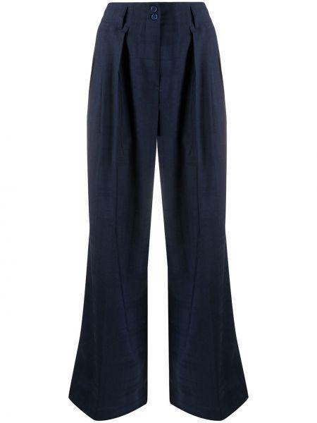 Шерстяные синие брюки с карманами Paul Smith