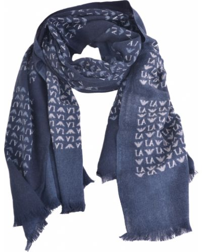 Акриловый синий шарф Armani Jeans