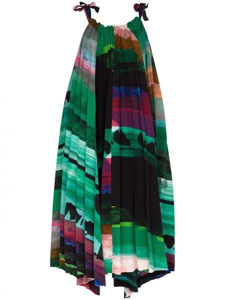 Зеленое платье миди Issey Miyake