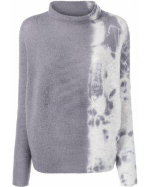 Кашемировый тонкий серый свитер с воротником Suzusan