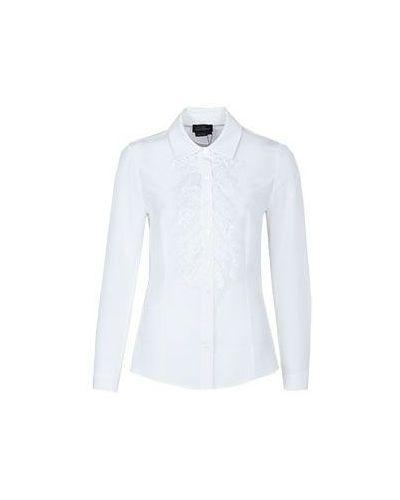 Кружевная блузка приталенная с декольте Luisa Spagnoli