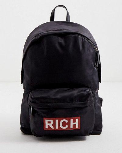 Текстильный черный рюкзак John Richmond