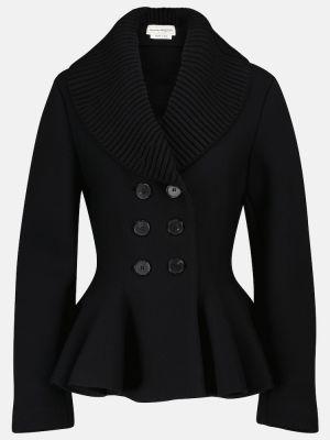 Черная шерстяная куртка Alexander Mcqueen