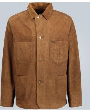 Кожаная куртка винтажная с декоративной отделкой Rrl