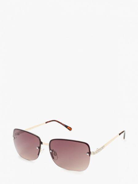 Муслиновые солнцезащитные очки квадратные золотые Marks & Spencer