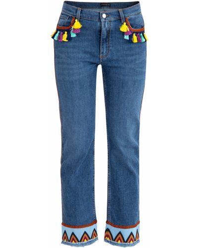 Расклешенные джинсы укороченные с карманами Etro