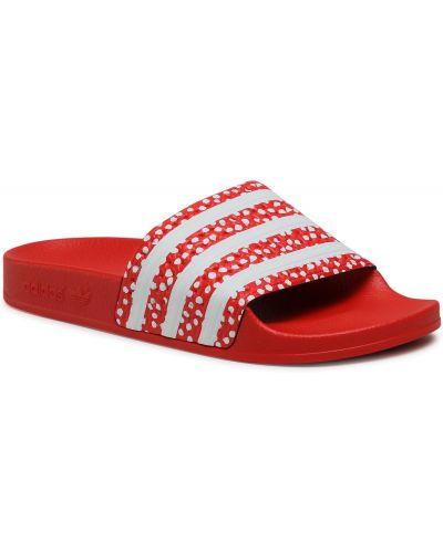 Czerwone sandały Adidas