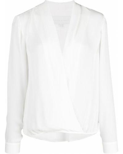Блузка с длинным рукавом с запахом с V-образным вырезом Michelle Mason