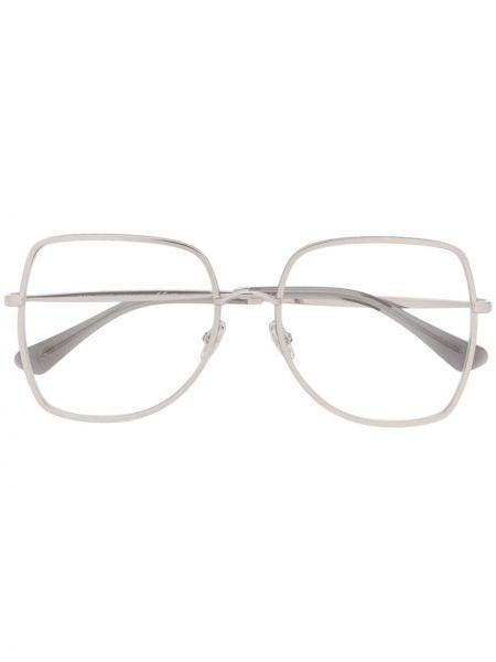 Прямые серебряные очки Jimmy Choo Eyewear