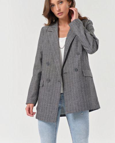 Удлиненный пиджак двубортный с подкладкой с воротником Fly