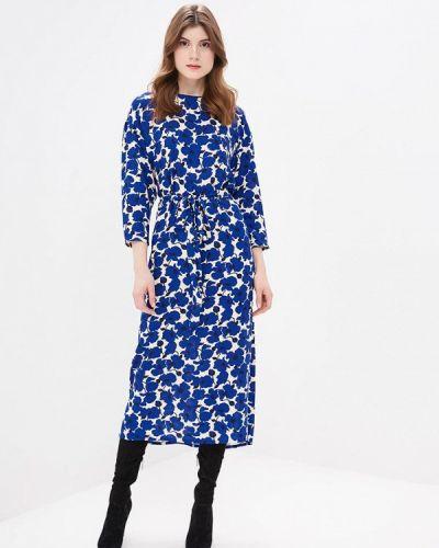 Платье осеннее синее Burlo