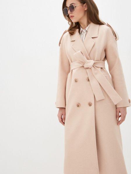 Розовое пальто с капюшоном Giulia Rosetti