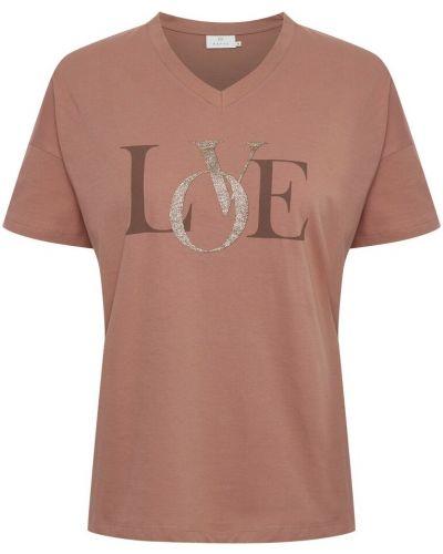 Różowa t-shirt Kaffe